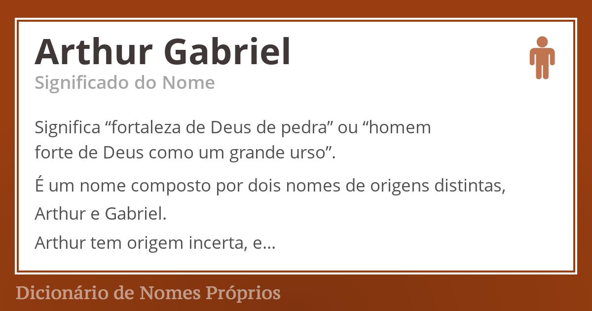 Arthur Gabriel