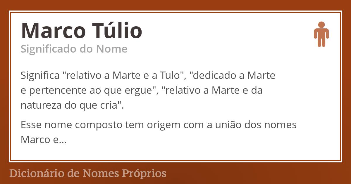 Marco Túlio