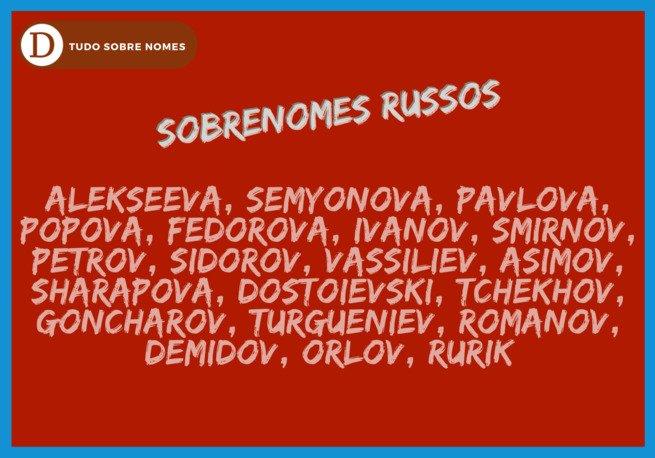 Sobrenomes russos: desvende como se formam e confira 20 exemplos