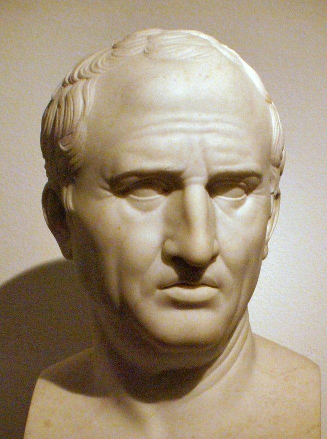 Nome Marco Túlio: estátua do filósofo Marco Túlio