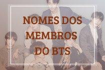 O significado dos nomes dos membros do BTS